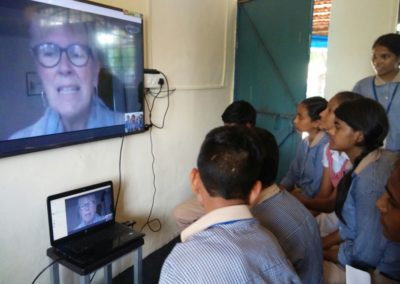 Skype sessions with people across the globe
