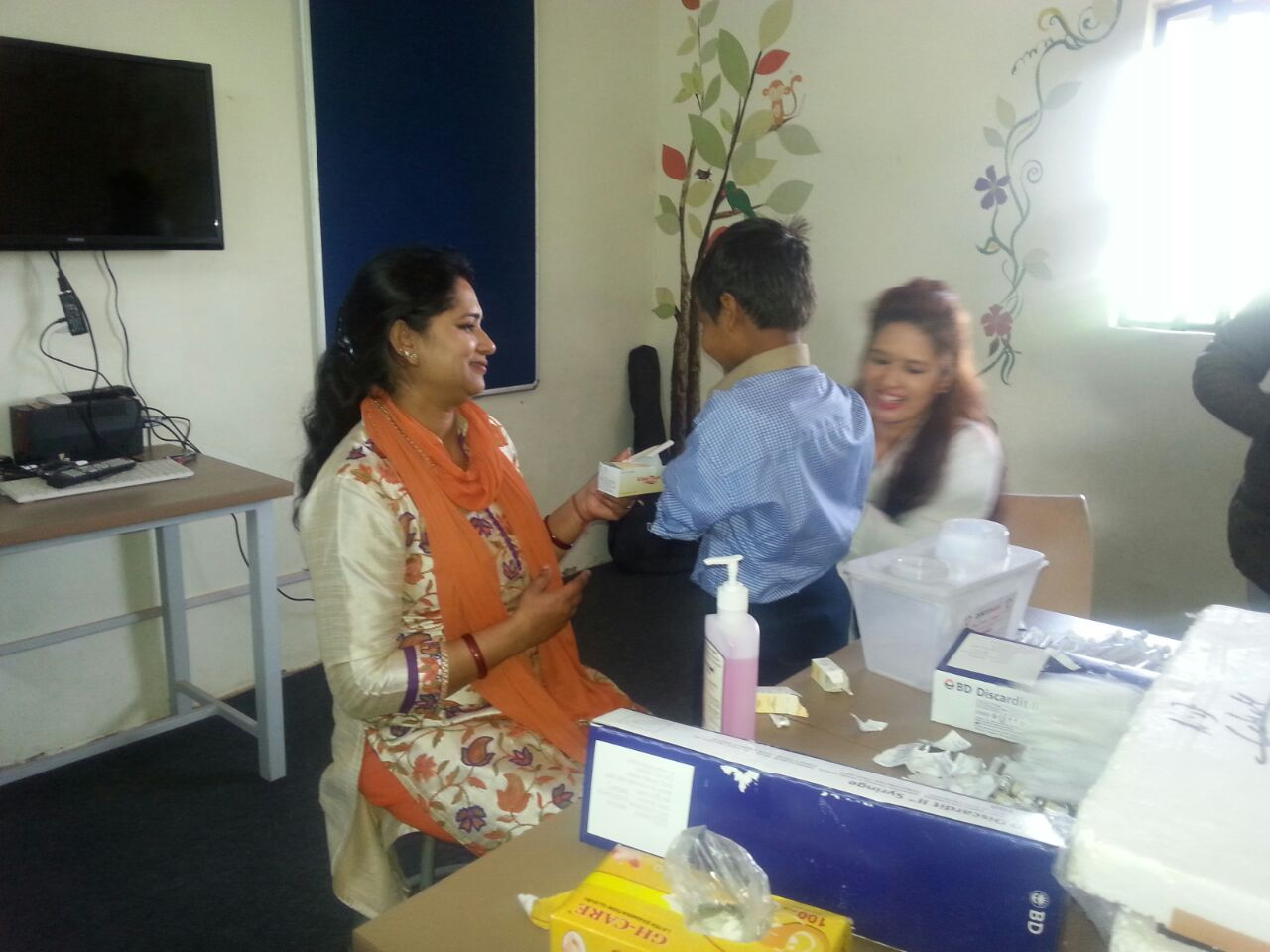 MMR vaccination