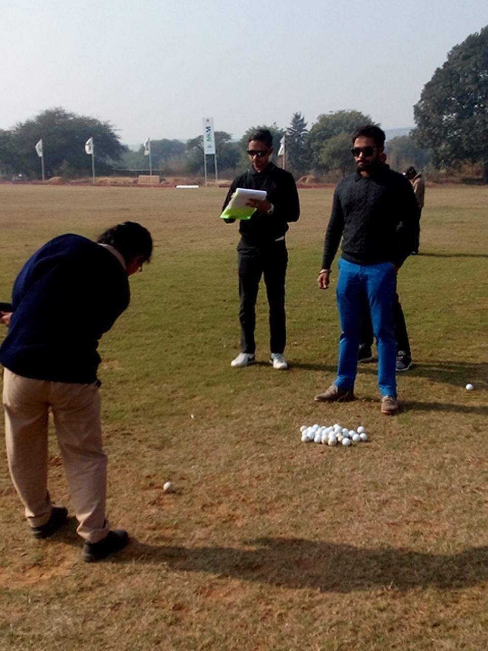 golf- greens training session