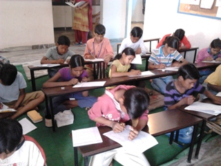Class test in progress
