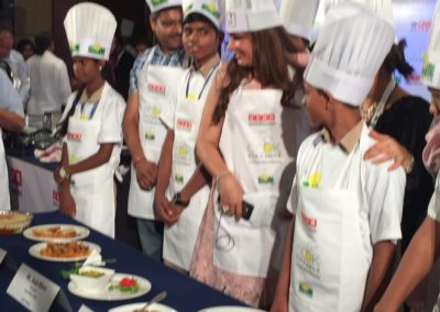 Cooking with corporate reps at Crown Plaza