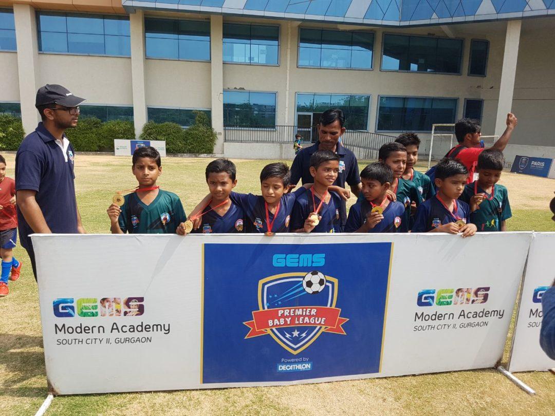 Junior Soccer match with Gems Academy