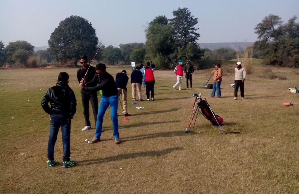 Training session at Golf Greens