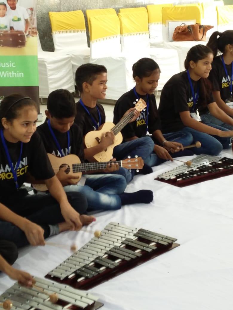 Music composing at Amani Music workshop