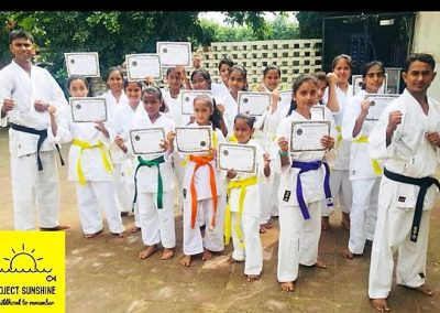 Yellow Belts in Karate