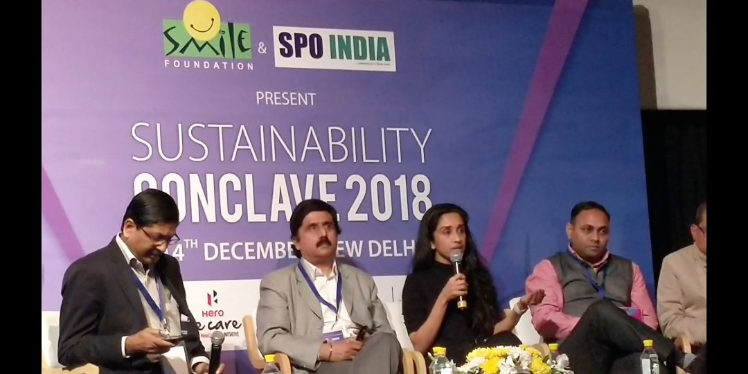 Panel discussion at Sustainability Conclave 2018
