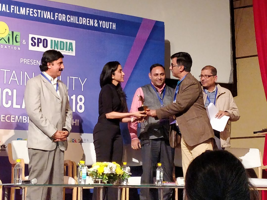 Recognition at Sustainability Conclave by Smile Foundation